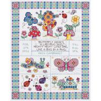 Bug In A Rug Cross Stitch Kit By Janlynn
