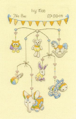 Cute Mobile Sampler  Cross Stitch Kit By Dmc