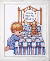 Bedtime Prayer Boy Sampler Cross Stitch Kit By Design Works
