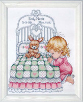 Bedtime Prayer Girl Sampler Cross Stitch Kit By Design Works