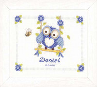 Owl Birth Sampler Vervaco Cross Stitch Kit