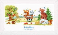 Woodlands Animals Birth Sampler Cross Stitch Kit