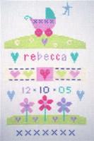 Baby Girl Garden Sampler Cross Stitch Kit