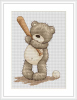 Baseball Bruno Cross Stitch Kit By Luca S