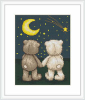 Bruno And Bianca Night-Time Walk Cross Stitch Kit By Luca S
