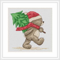 Bruno Brings The Christmas Tree Cross Stitch Kit By Luca S