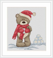 Bruno Makes Snowballs Cross Stitch Kit By Luca S