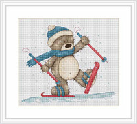 Skiing Bruno Cross Stitch Kit By Luca S