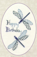 Dragonfly Birthday Card Cross Stitch Kit