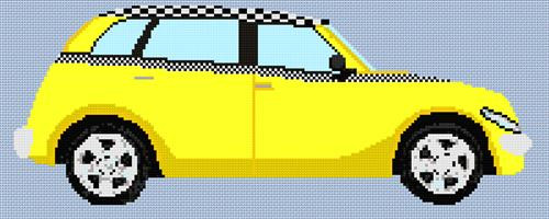 Chrysler Pt Taxi Cruiser Cross Stitch Kit By Stitchtastic