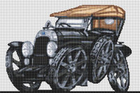 Fiat 1921 Torpedo Cross Stitch Kit By Stitchtastic