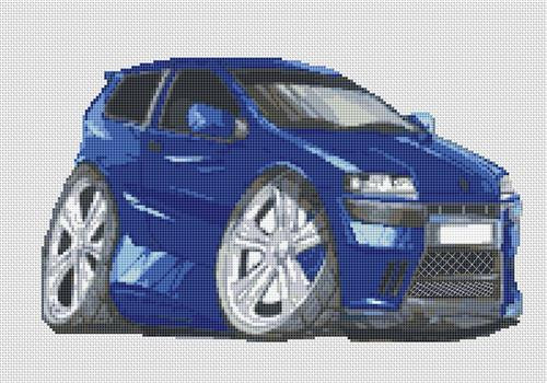 Fiat Punto Caricature Cross Stitch Chart By Stitchtastic