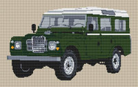Landrover 1986 Lwb Defender Cross Stitch Kit By Stitchtastic