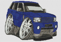 Range Rover Sport Caricature Cross Stitch Chart By Stitchtastic