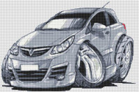 Vauxhall Corsa Cross Stitch Kit By Stitchtastic