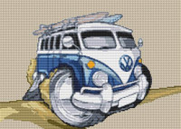 Vw Beach Camper Van Split Screen Chart By Stitchtastic