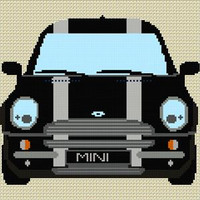 Bmw Mini Stripe Cross Stitch Kit