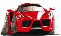 Ferrari Enzo Caricature Cross Stitch Kit