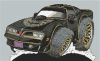Pontiac Trans Am  Smokey And The Bandit  Cross Stitch Kit