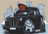 Black Cab London Taxi Cross Stitch Kit