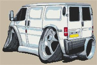 Ford Transit Van Cross Stitch Kit