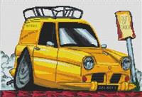 Del Boy Reliant Regal Van Cross Stitch Kit