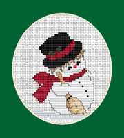 Snowman Mini Cross Stitch Kit By Luca S