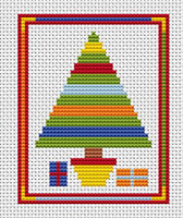 Sew Simple Christmas Tree Cross Stitch Kit