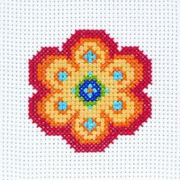Flower Beginners Cross Stitch Kit By Anchor