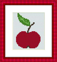 Apple Mini Cross Stitch Kit By Luca S