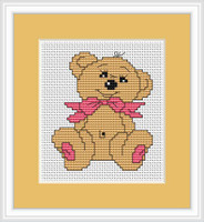 Baby Bear Mini Cross Stitch Kit By Luca S