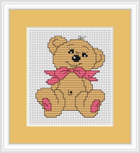 Baby Bear Mini Cross Stitch Kit By Luca S