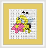 Bee Mini Cross Stitch Kit By Luca S