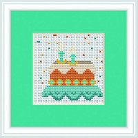 Birthday Cake Mini Cross Stitch Kit By Luca S