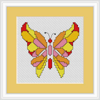 Butterfly Ii Mini Cross Stitch Kit By Luca S