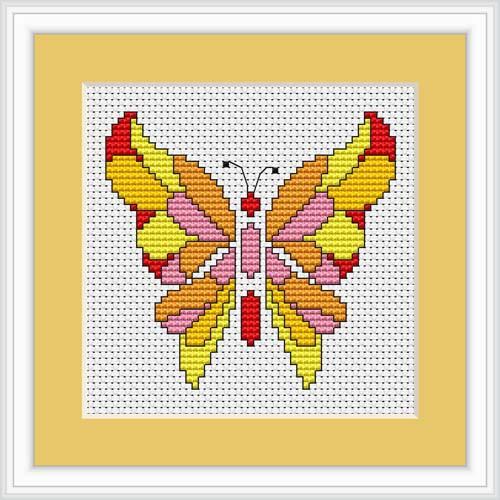 Butterfly Ii Mini Cross Stitch Kit By Luca S