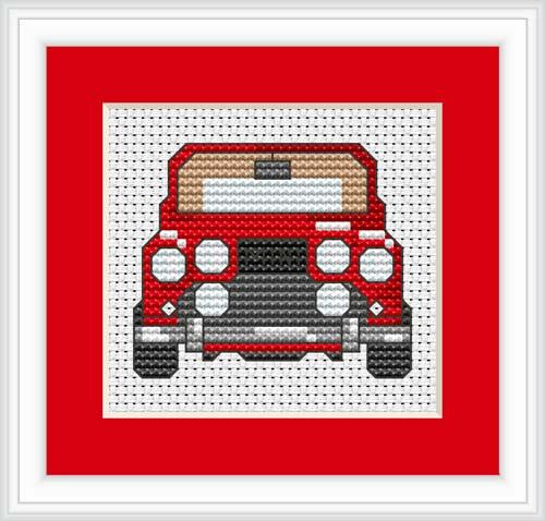 Car Mini Cross Stitch Kit By Luca S