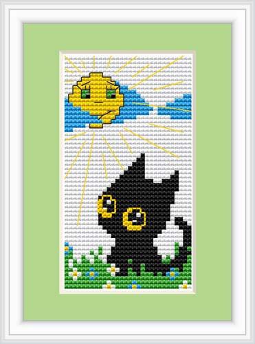 Cat Day Mini Cross Stitch Kit By Luca S