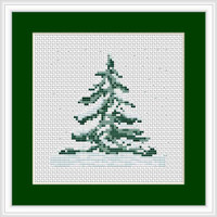 Christmas Tree  Mini Cross Stitch Kit By Luca S
