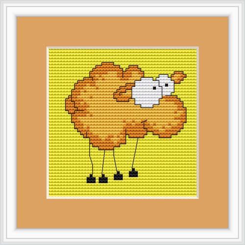 Comic Sheep Mini Cross Stitch Kit By Luca S