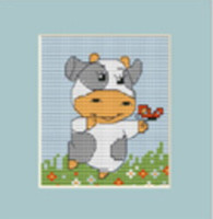 Cow Mini Cross Stitch Kit By Luca S