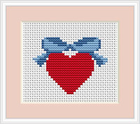 Heart Mini Cross Stitch Kit By Luca S