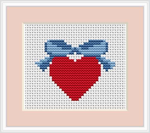 Heart Mini Cross Stitch Kit By Luca S