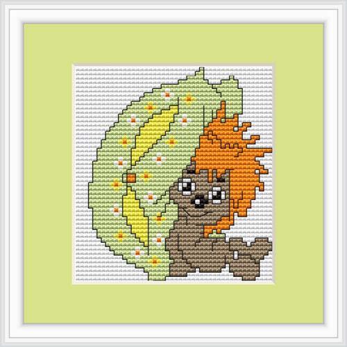Hedgehog Mini Cross Stitch Kit By Luca S