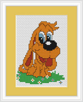 Hound Mini Cross Stitch Kit By Luca S
