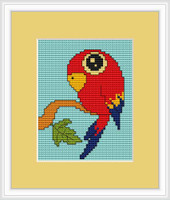 Parrot Mini Cross Stitch Kit By Luca S