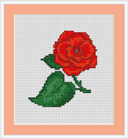 Rose Mini Cross Stitch Kit By Luca S