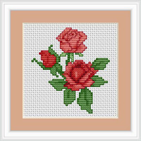 Roses Mini Cross Stitch Kit By Luca S