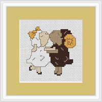 Sheep In Love Mini Cross Stitch Kit By Luca S
