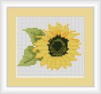 Sunflower Mini Cross Stitch Kit By Luca S